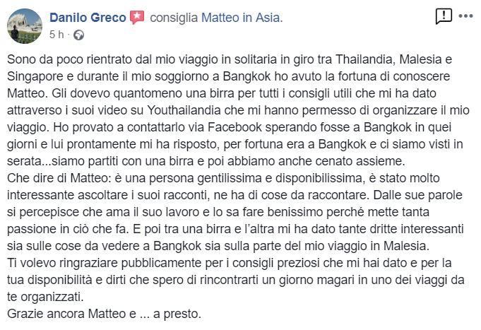 recensioni Matteo in Asia opinioni